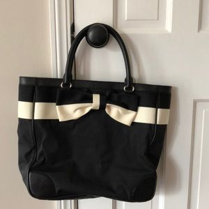 Kate Spade black and White Bow Tote. So cute!